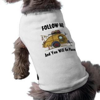 Remolque lindo del viaje del campista de la lágrim camisa de perro