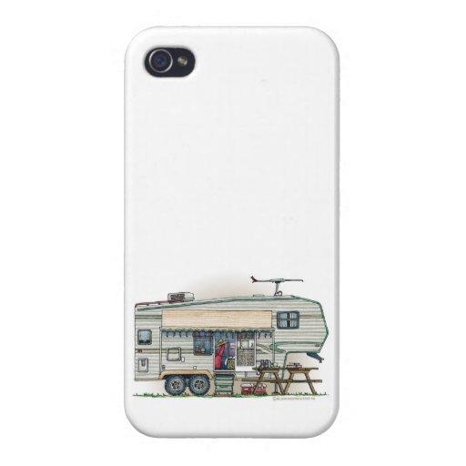 Remolque lindo del viaje del campista de la quinta iPhone 4/4S carcasa