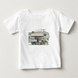 Remolque lindo del viaje del campista de la quinta t shirt