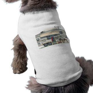 Remolque lindo del viaje del campista de la quinta camisetas de mascota