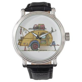 Remolque lindo del viaje del campista de la reloj de mano