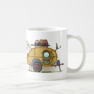 Remolque lindo del viaje del campista de la taza