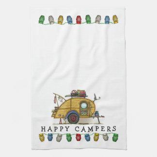 Remolque lindo del viaje del campista de la toallas de cocina