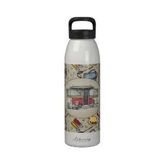 Remolque móvil del viaje del campista del vintage  botella de agua