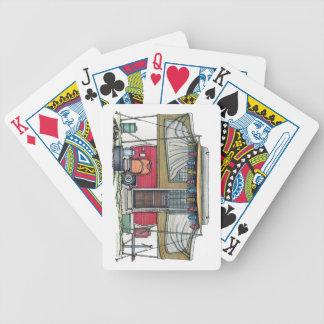 Remolque móvil del viaje del campista del vintage  baraja cartas de poker