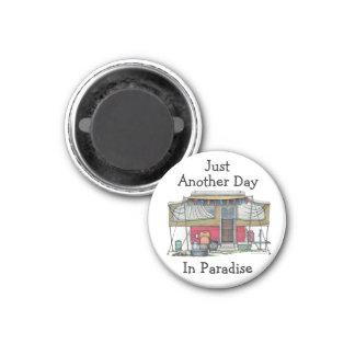 Remolque móvil del viaje del campista del vintage  imán para frigorifico