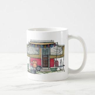 Remolque móvil del viaje del campista del vintage  tazas de café
