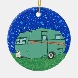 Remolque que acampa ornamento para arbol de navidad