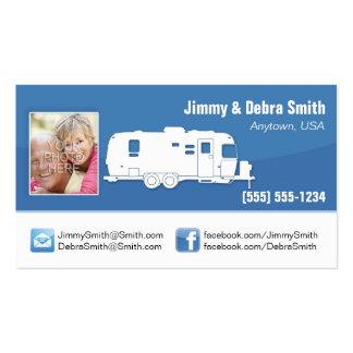 Remolque rv/tarjetas que acampan del viaje tarjetas de visita