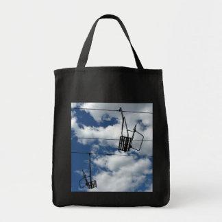 Remonte y cielo bolsa tela para la compra