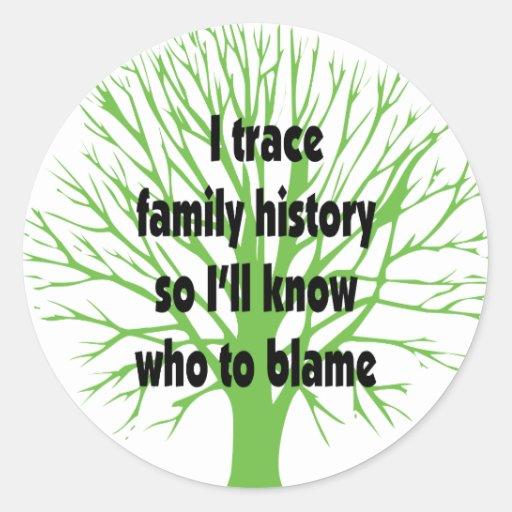 Remonto antecedentes familiares etiquetas