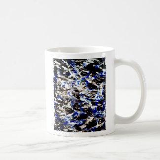 Remordimiento negro del azul del pesar taza básica blanca