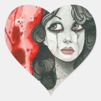 Remordimiento Pegatina En Forma De Corazón