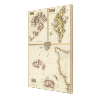 Remote British Isles Jersey and Guernsey Canvas Print