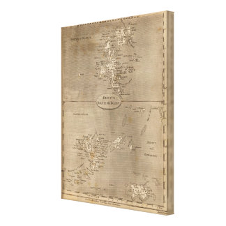 Remote British Isles Map by Arrowsmith Canvas Print