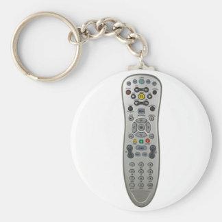 Remote control basic round button keychain