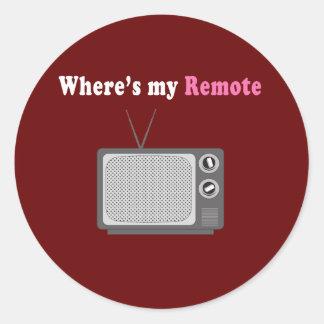 Remote Control Classic Round Sticker