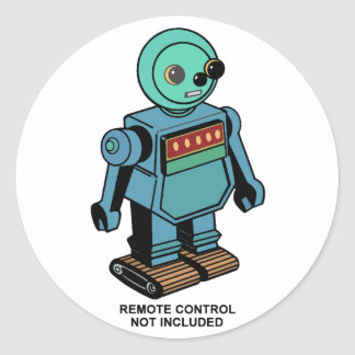 Remote Control Not Included Robot Classic Round Sticker