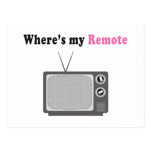 Remote Control Postcard