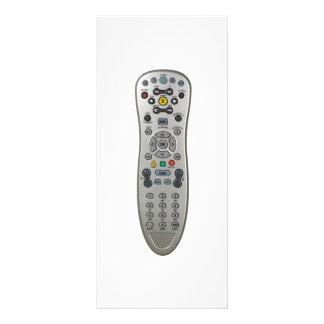 Remote control rack card
