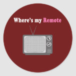 Remote Control Round Sticker
