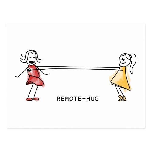 remote hug postcard