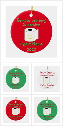 Remote Learning Christmas Ornaments