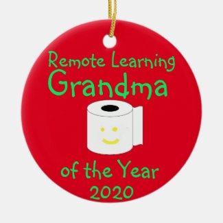 Remote Learning Grandma of the Year Ceramic Ornament