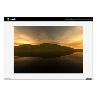 """Remote Mountain 15"""" Laptop Decal"""