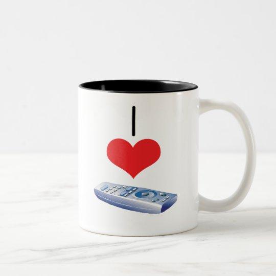 remote Two-Tone coffee mug