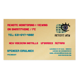 Remote View Biz Cards Double-Sided Standard Business Cards (Pack Of 100)