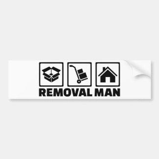 Removal man bumper sticker
