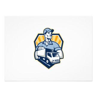 Removal Man Delivery Truck Crest Retro Personalized Invitations