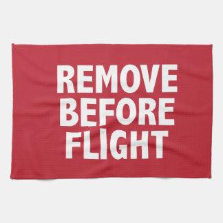Remove Before Flight Towel