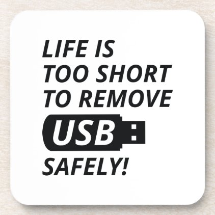 Remove USB Safely Coaster