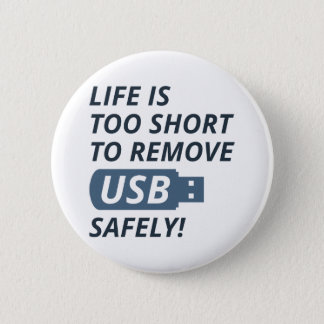 Remove USB Safely Pinback Button