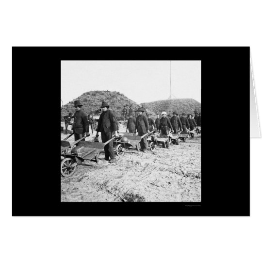 Removing Ammo from Fort McAllister, GA 1864 Card