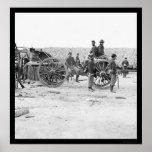 Removing Confederate Artillery 1865 Poster