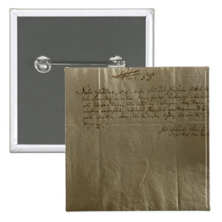 Remuneration Receipt, 17th December, 1704 2 Inch Square Button