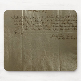 Remuneration Receipt, 17th December, 1704 Mouse Pad