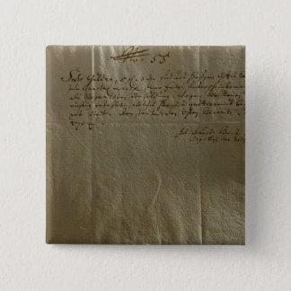 Remuneration Receipt, 17th December, 1704 Pinback Button