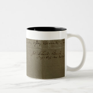 Remuneration Receipt, 17th December, 1704 Two-Tone Coffee Mug