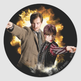 Remus Lupin and Nymphadora Tonks-Lupin Classic Round Sticker
