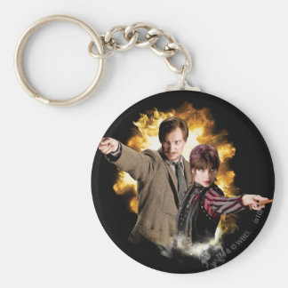 Remus Lupin and Nymphadora Tonks-Lupin Basic Round Button Keychain