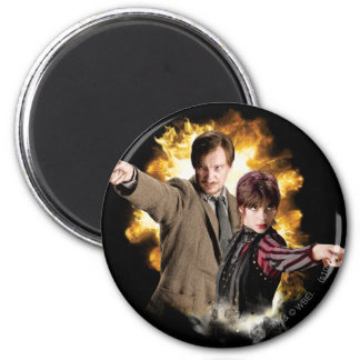 Remus Lupin and Nymphadora Tonks-Lupin 2 Inch Round Magnet