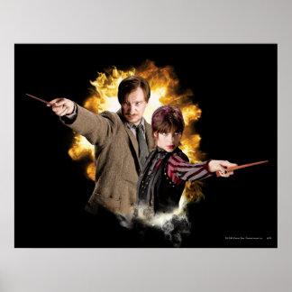 Remus Lupin and Nymphadora Tonks-Lupin Print