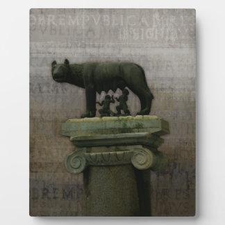Remus Romulus y ella lobo Placas De Plastico