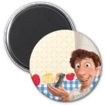 Remy and Linguine 2 Inch Round Magnet