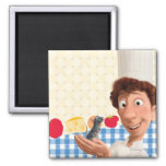Remy and Linguine 2 Inch Square Magnet