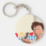 Remy and Linguine Basic Round Button Keychain
